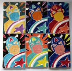 Captain America Group Tiles