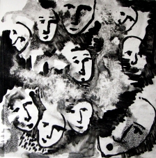 Faces Monoprint