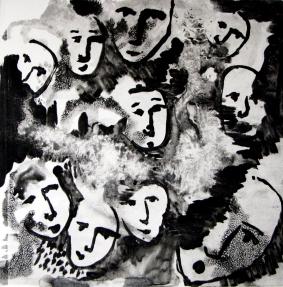 Faces Monoprint
