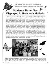 Students Butterflies Displayed At Houston's Galleria