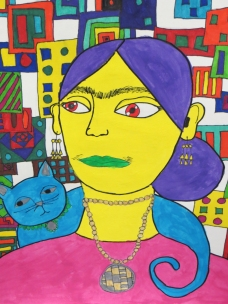 Frida Kahlo With Cat